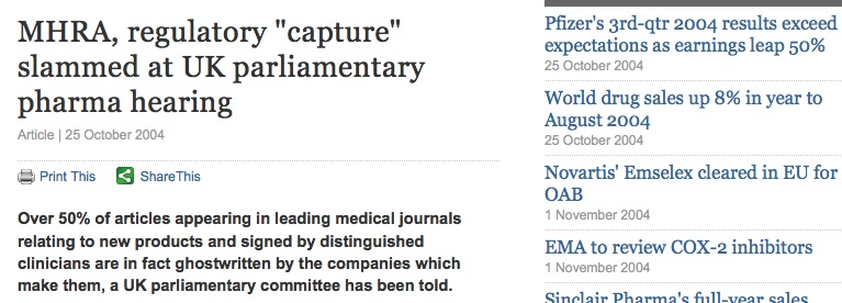 MHRA slammed by parliamentary commission.