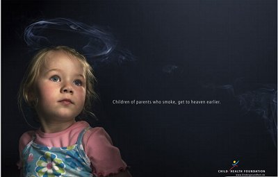 A child is surrounded by a HALO of smoke.