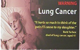 A woman dying of lung cancer thinks of her children.