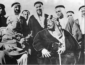 Churchill with the Wahabbis.