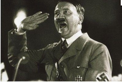Hitler in the middle of a rant.