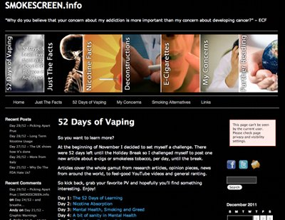 Screenshot from 52 vapes of vaping.