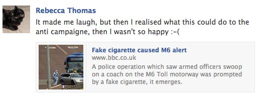 Comment 2 on the e-cigarette bus incident.