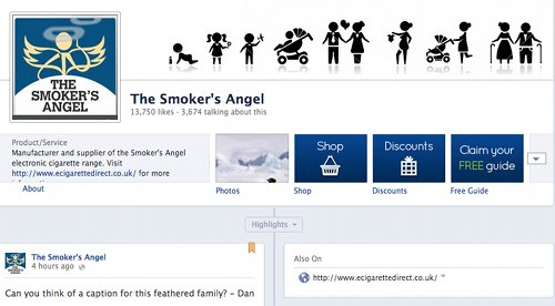 Facebook the smokers angel.