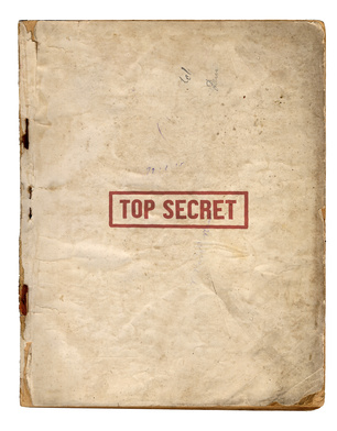 A file titled top secret.