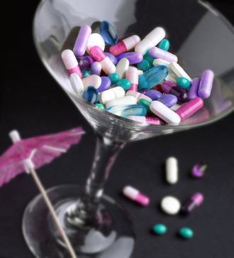 A cocktail of drugs.