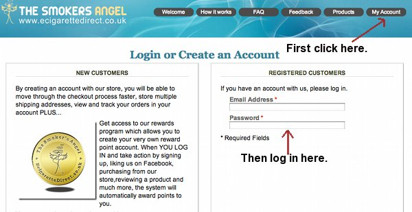 How to log in to your points system.