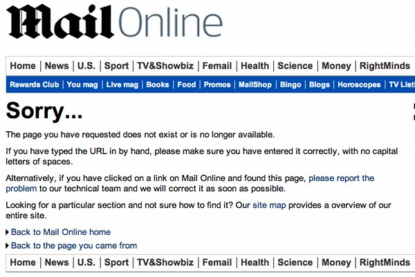 Removed daily mail story.