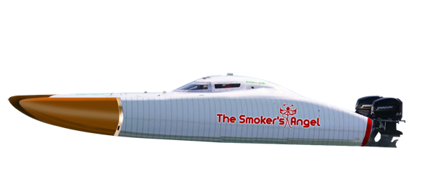 The Smoker's Angel powerboat.
