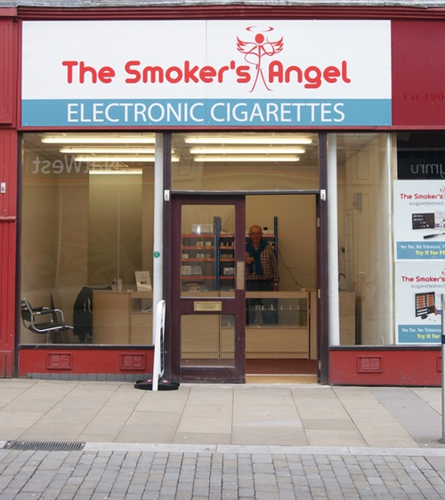 The Smoker's Angel Shop in Swansea, South Wales.