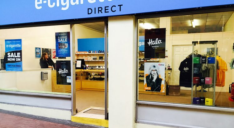 Exterior of the E-CigaretteDirect shop in Llanelli.