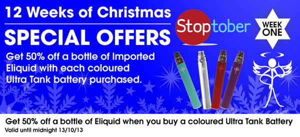Week 1 Christmas E Cigarette Promotion
