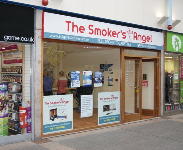 Bridgend electronic cigarette shop.