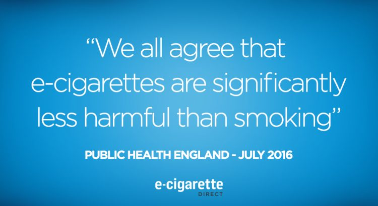 Public Health England quote on e-cigarettes.