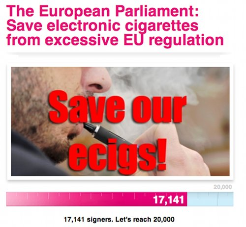 Petition to stop EU ban on ecigs.
