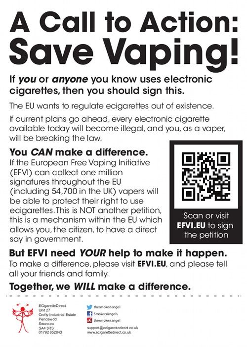 Call to action from the European Free Vaping Initiative