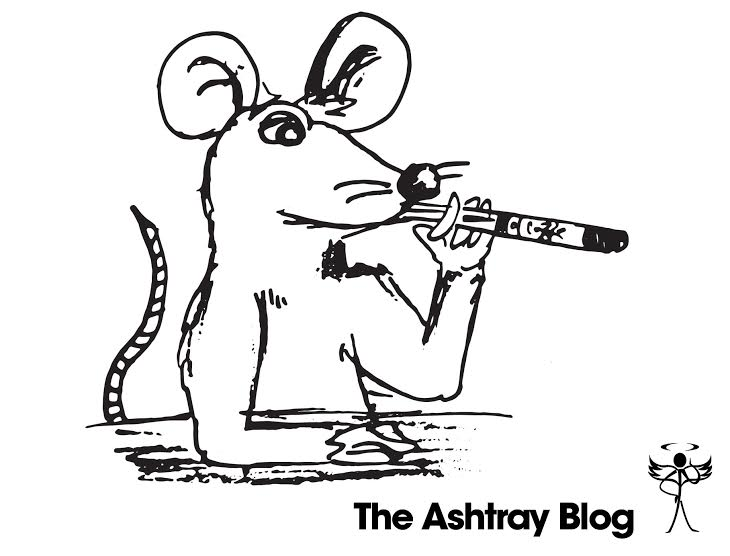 A rat vaping an electronic cigarette.
