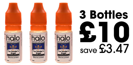 3 bottles of UK E liquid for £10
