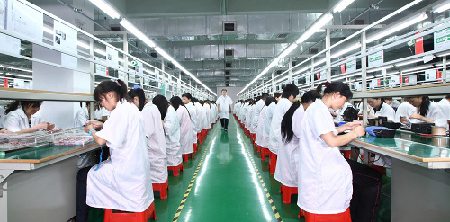 Production line in a Chinese factory.