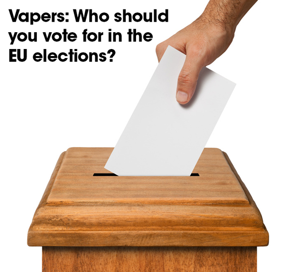 Voting box with title: Vapers, who should you vote for in the EU elections?