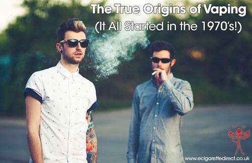 Two men in sunglasses vaping.