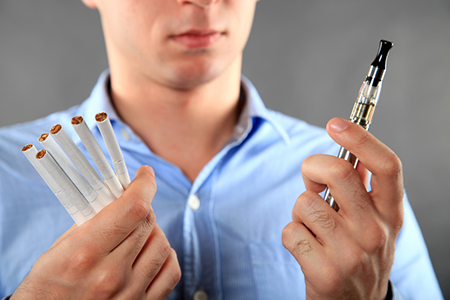 E-cigarettes or cigarettes?