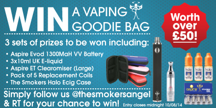 Win Vaping Goodie Bag Follow & RT