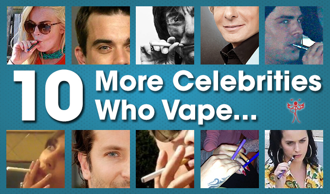 10 celebrities who vape using ecigarettes