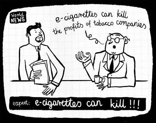 Meme reads: Ecigs can kill the profits of tobacco companies.