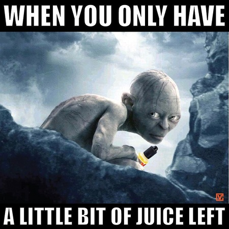 When you only have a little bit of juice left!