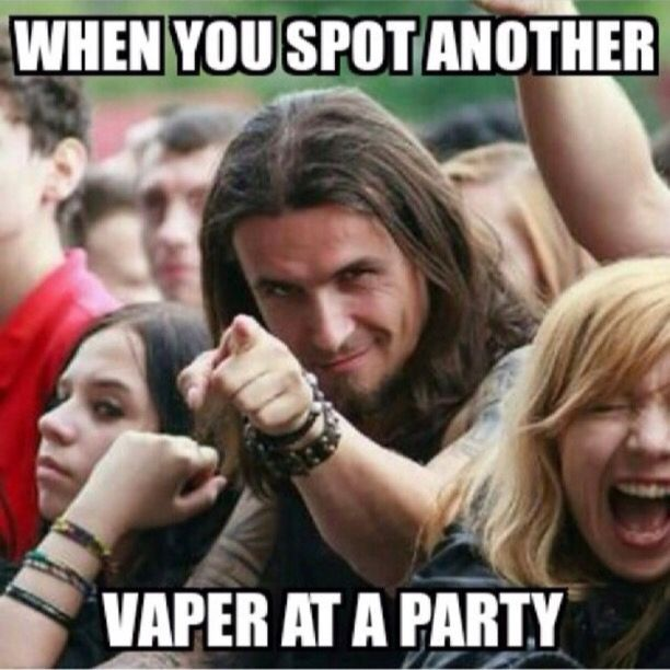 That feeling you get get when you spot another vaper.