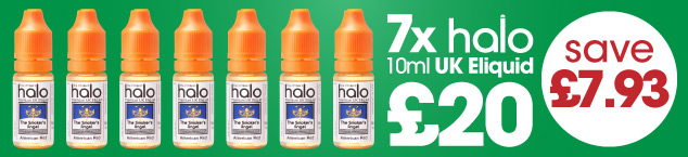 7 x 10ml Halo Eliquid for £20