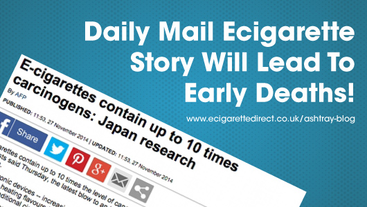 Daily Mail Ecig Story Will Lead To Early Deaths