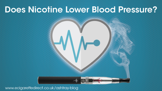 ecigs nicotine lower blood pressure