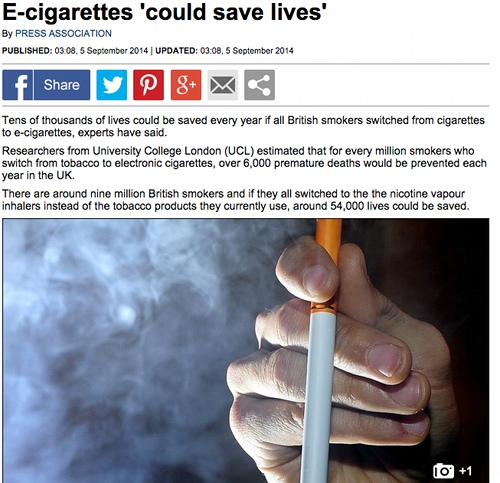 Ecigs could save lives.