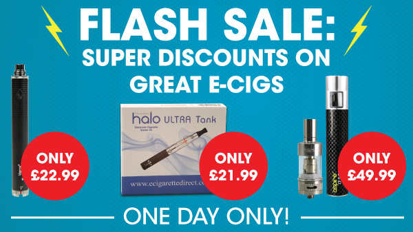 Flash Sale: Super Discounts on Great E-Cigs