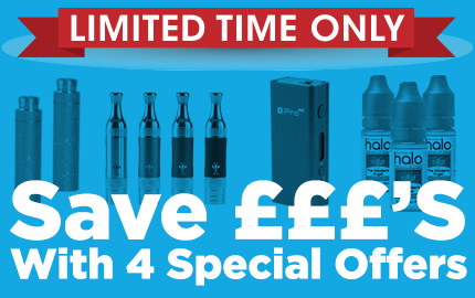 15% Off E-Liquid & Cartridges Plus Smok M45 & Aspire ET-S Offers