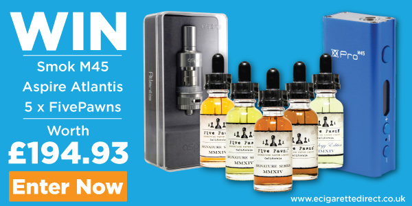 Win Smok M45, Five Pawns, Aspire Atlantis