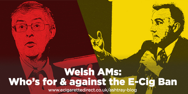 Welsh Parties For Against E-Cig Ban