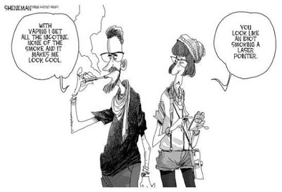 Anti-vaping cartoon.
