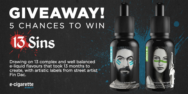 Five chances to win 13 Sins e-liquid.