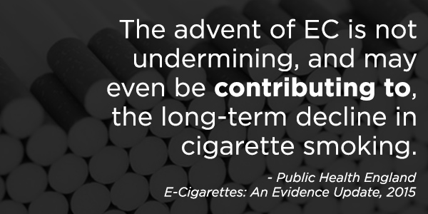 e-cigs contribute to decline smoking