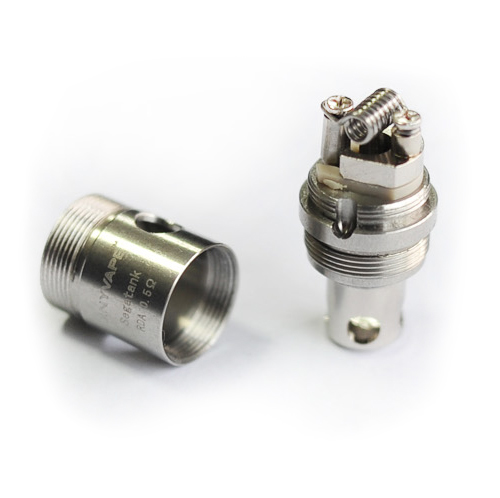Fury tank rda coil head in two parts.