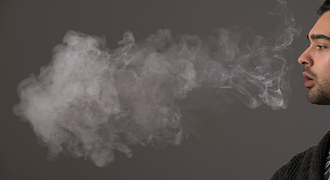 Vapour from E-Cigarette
