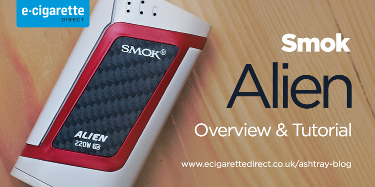 Smok Alien White & Red Tutorial Header Image