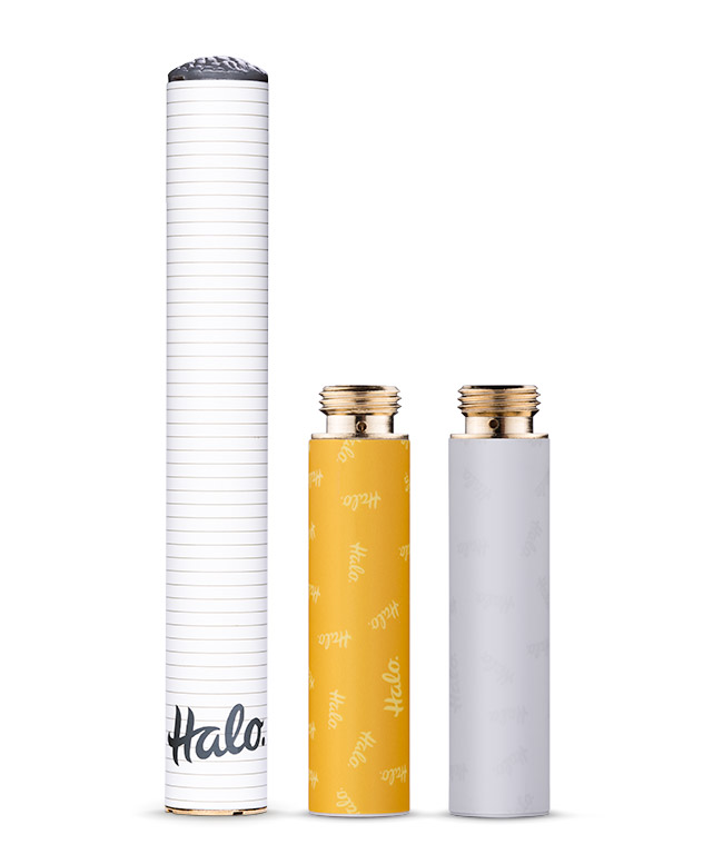 Halo cigalike battery and carts