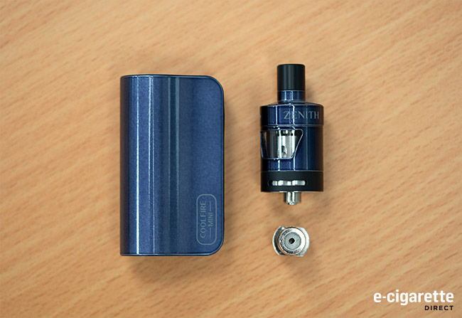 Coolfire Mini Mod and Zenith D22 Tank