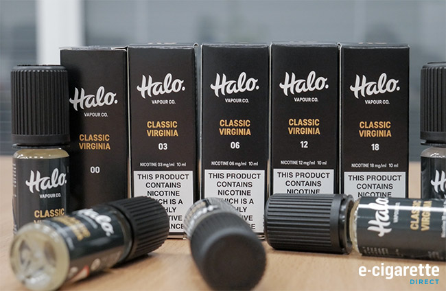 Halo e-liquid in different nicotine strengths