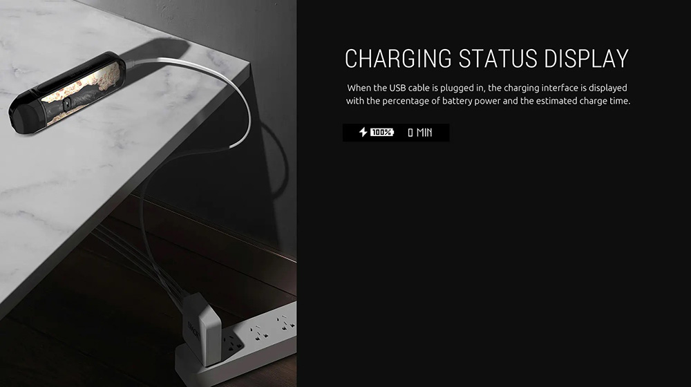 Smok Nord 2 charging on a table.