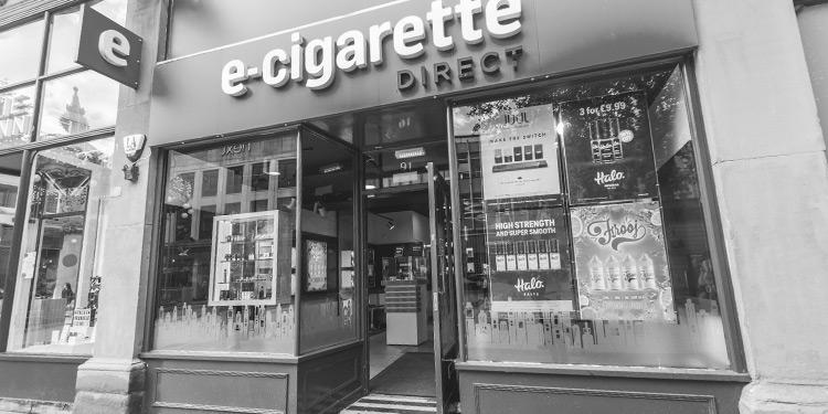 E-Cigarette Direct shop in Swansea.
